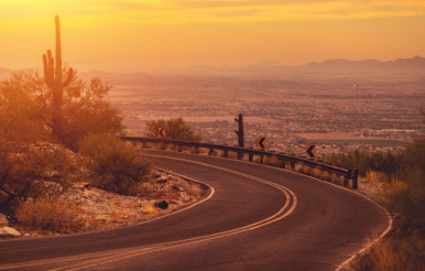 Winding Arizona Mountain Road