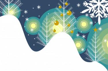 Winter Abstract Illustration
