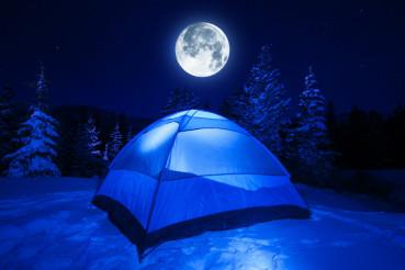 Winter Night Camp