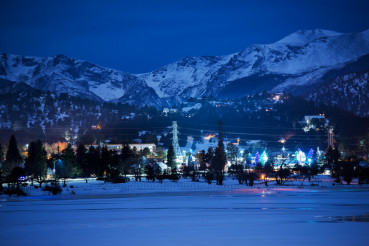 Winter Night in Estes Park