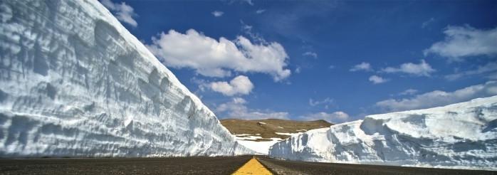 Winter Road Snow Slopes