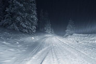 Winter Storm at Night