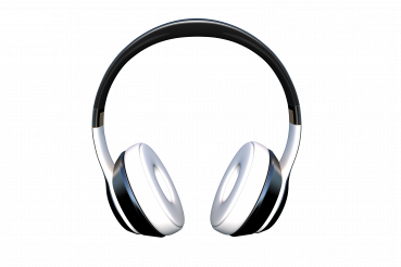 Wireless Headphones Isolated Background PNG Graphic