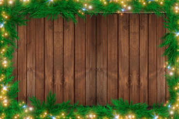 Wood Christmas Backdrop