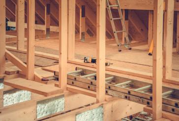 Wooden House Skeleton Frame Construction Zone