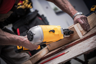 Woodwork Using Nail Gun
