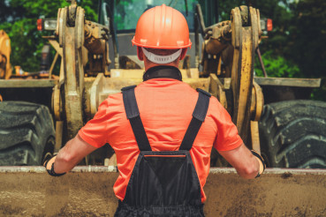 Worker and the Bulldozer