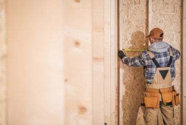 Worker Building Interior Walls
