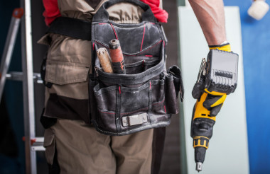 Worker with Drill Driver