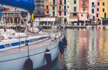 Yacht in Porto Venere Italy