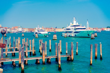 Yachts in Venice, Italy