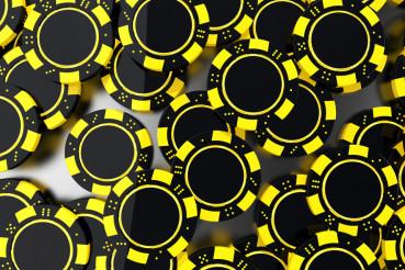 Yellow Black Casino Chips
