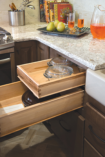 Drawer Base with Hidden Drawer
