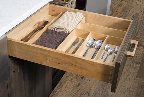 Birch Cutlery Organizer