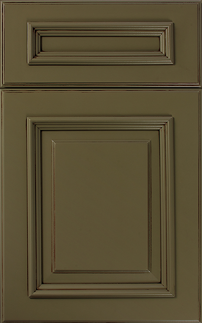 Belmont Array Cabinet Door Style with a Sage Mocha Finish & DOOR STYLE SPECIFICS