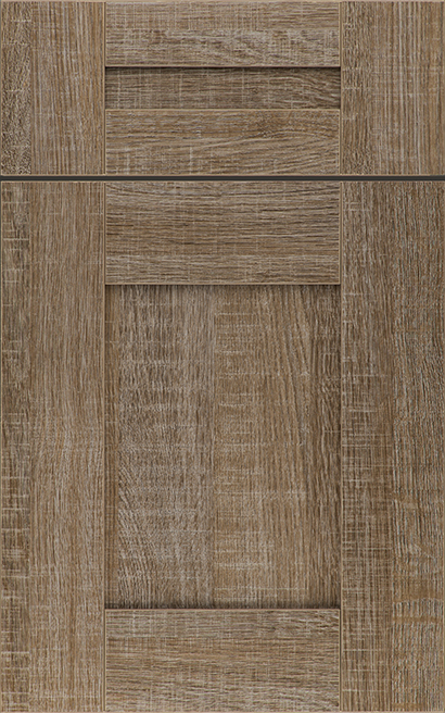 Morristown Heavy Textured Melamine cabinet door finished in  with a Classic Drawer Front Option - Aspire fameless cabinetry