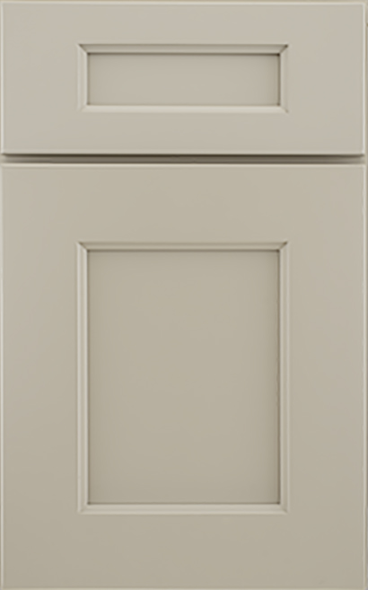 Bishop Medium Density Fiberboard cabinet door finished in Pebble with a Classic Drawer Front Option - Premier Series
