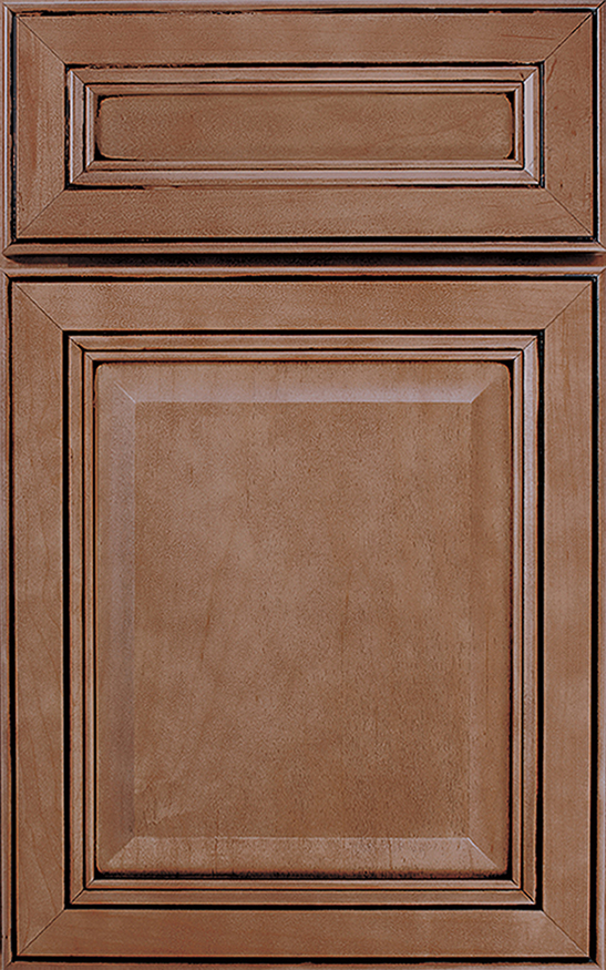 Concord, Array Cabinet Door Style With A Nutmeg Java Finish