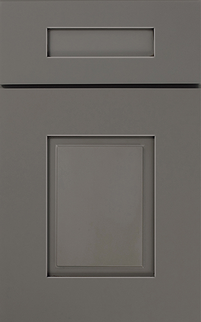 Cortland Maple cabinet door finished in Willow Java with a Classic Drawer Front Option - Premier Series