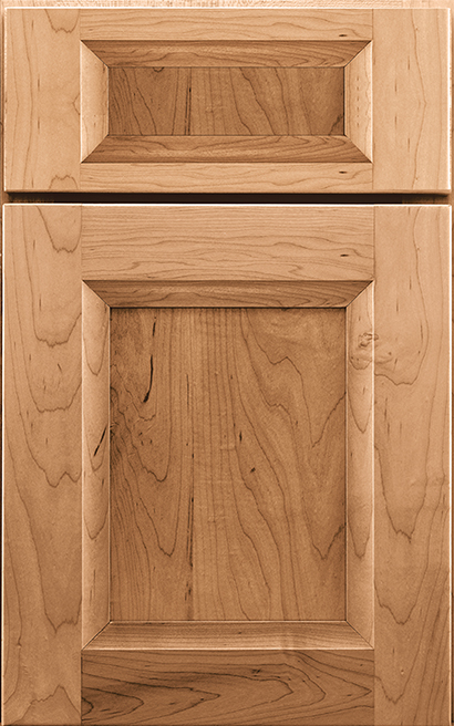 Chelsea Maple cabinet door finished in Light with a Classic Drawer Front Standard - Product line id was not supplied.