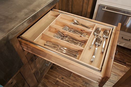 Tiered Cutlery Tray