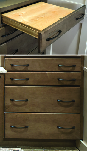 Base with Pullout Table