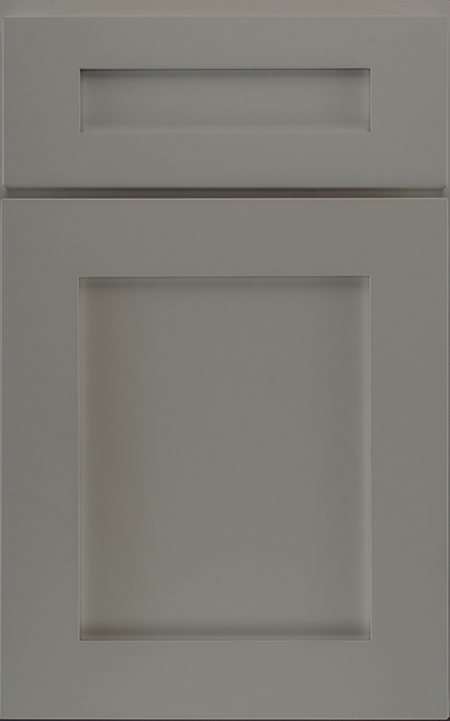 Hancock Medium Density Fiberboard cabinet door finished in Dove with a Classic Drawer Front Option - Select Series