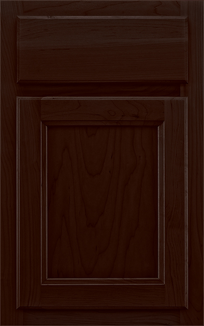 H&ton Square Array Cabinet Door Style with a Spiceberry Finish & Explore Cabinet Door Styles | Hampton Square Doors