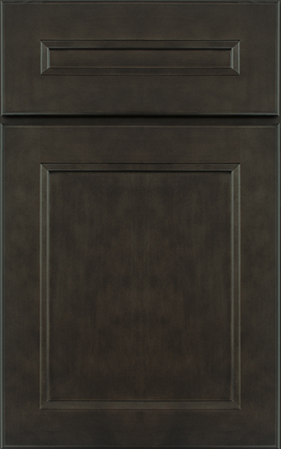 Henlow Square Maple cabinet door finished in Shadow with a Classic Drawer Front Option - Premier Series