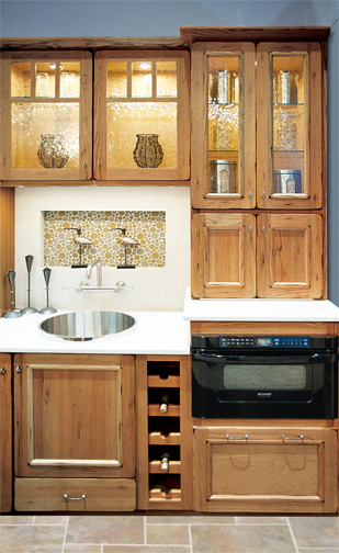 Wall with Appliance Doors