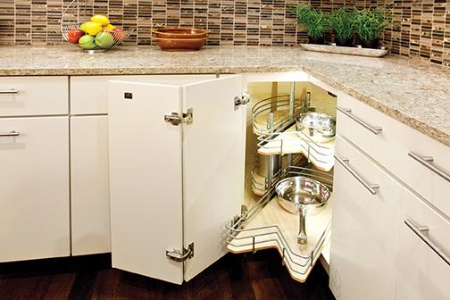 Corner Sink Base with Functional Shelves