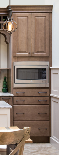 Microwave with Table Top Drawer