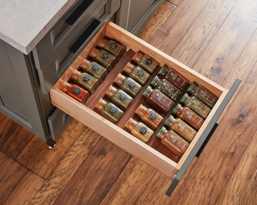 Walnut Spice Rack Insert