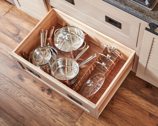Walnut Deep Drawer Peg Dish Organizer