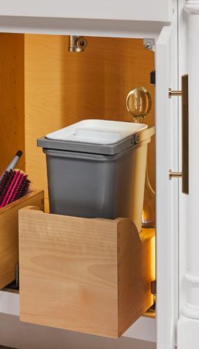 Vanity Sink Wastebasket Pullout Kit