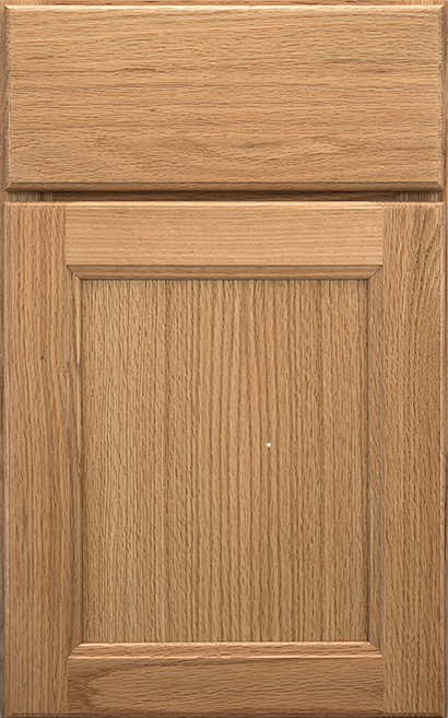 Millbrook Square Oak cabinet door finished in Natural with a Slab Drawer Front Standard - Product line id was not supplied.