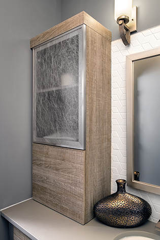 Wall with Lift Doors