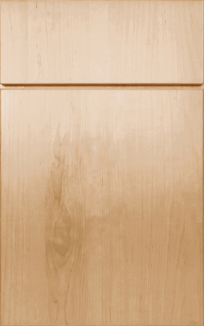 Milan Maple cabinet door finished in Natural with a Vertical Grain Drawer Front Standard - Elegant Bath