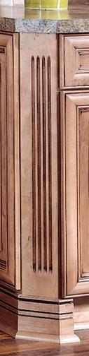 Pilaster - Angled Fluted Base