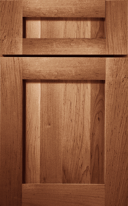 Prairie Maple cabinet door finished in Medium with a Classic Drawer Front Option - Product line id was not supplied.