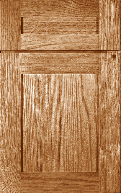Prairie Oak cabinet door finished in Medium with a Classic Drawer Front Option - Estate Series