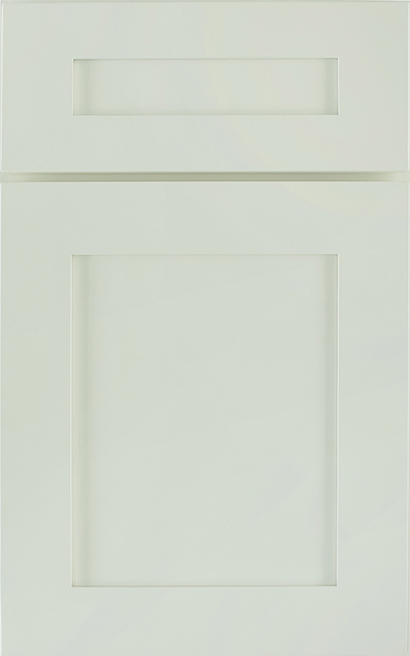Saybrook Medium Density Fiberboard cabinet door finished in Mint with a Classic Drawer Front Option - Premier Series