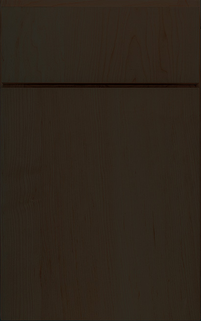 Urban Maple cabinet door finished in Drift with a Vertical Grain Drawer Front Standard - Select Series