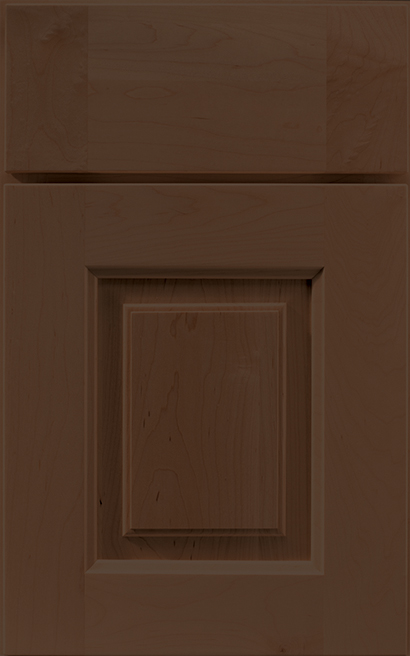 Vienna Maple cabinet door finished in Caramel with a Classic Drawer Front Standard - Estate Series