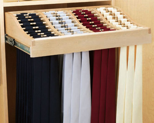 Wood Tie Rack