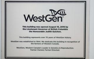 WestGen Dedication Plaque