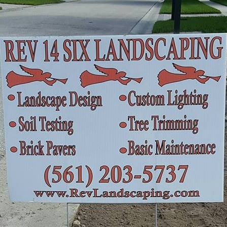 Website for Rev 14 Six Landscaping, Inc.