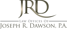 Website for Law Offices of Joseph R. Dawson, P.A.