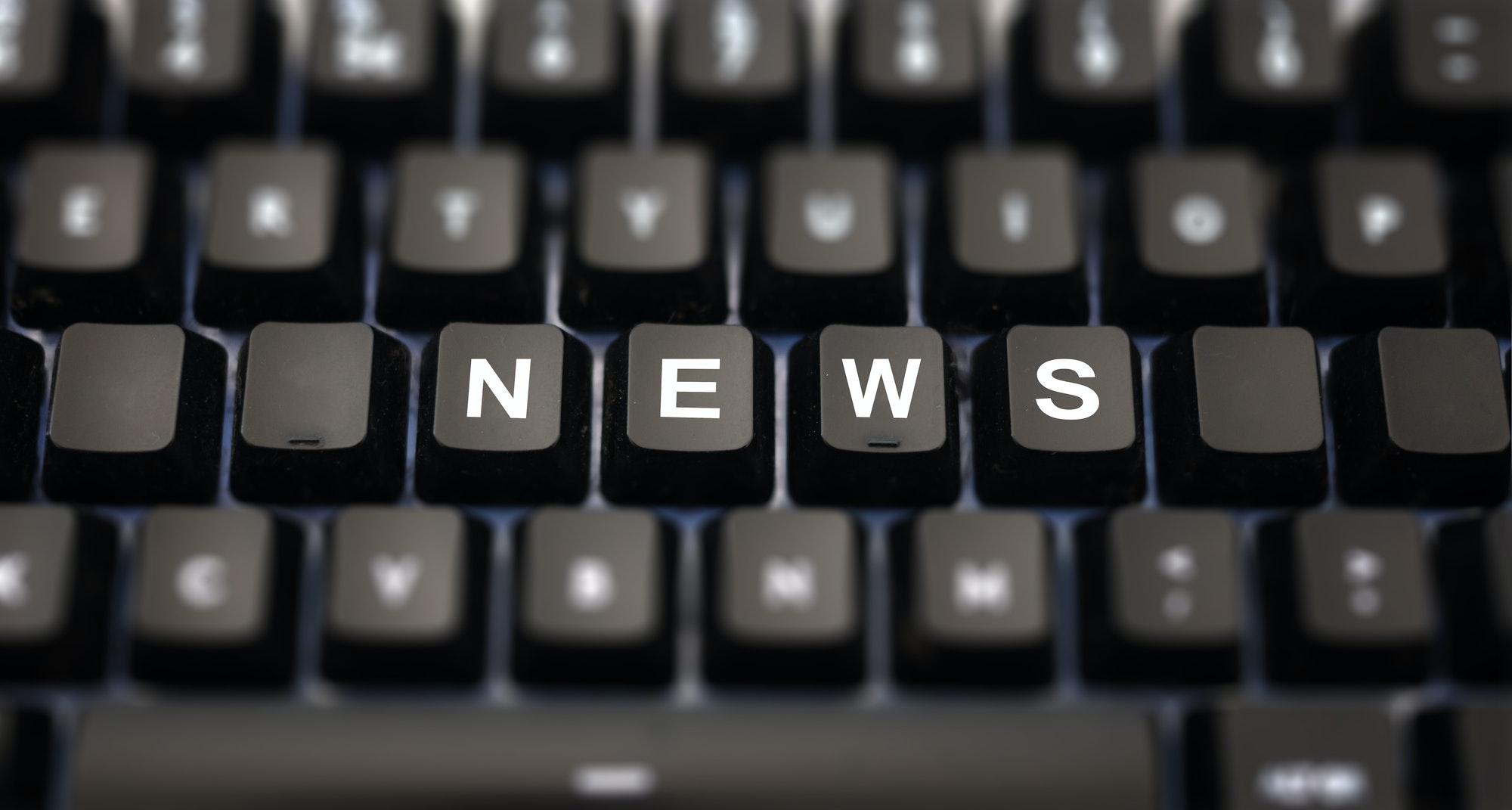 Online news, journalism concept.