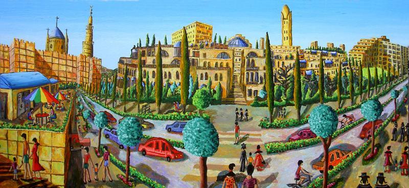 Raphael Perez Israeli Painter Artwork: Naive Artists